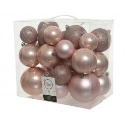 26 pink unbreakable baubles