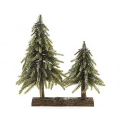2 mini kunstbomen