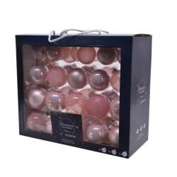 42 kerstballen classic roze