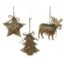 3 star, tree and deer...