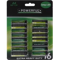 16 AA batterijen