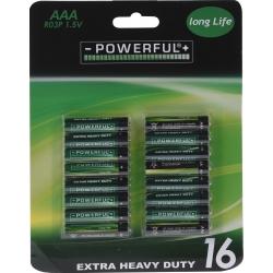 16 AAA batterijen