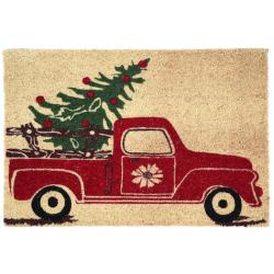 Deurmat auto en kerstboom