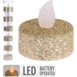 Golden led tea light candle
