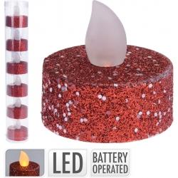 Red led tea light candle