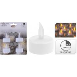 4 bougies chauffe plat led