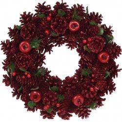 Grote kerstkrans rood