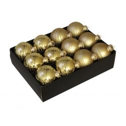 6x2 kerstballen goud