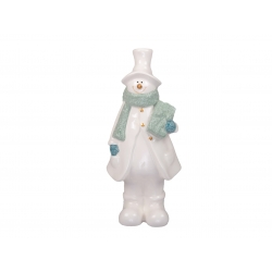 Sneeuwman in porselein