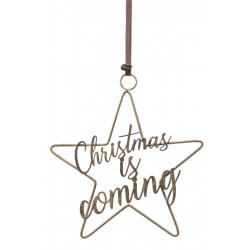 Kersthanger ijzeren ster