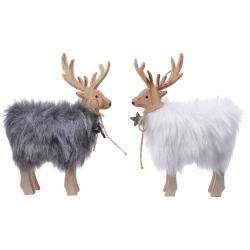 2 Christmas reindeer