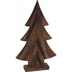 Sapin en bois avec socle 32cm