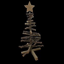 Sapin en pin et étoile de 62cm