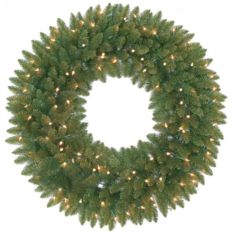 Washington artificial wreath & lights