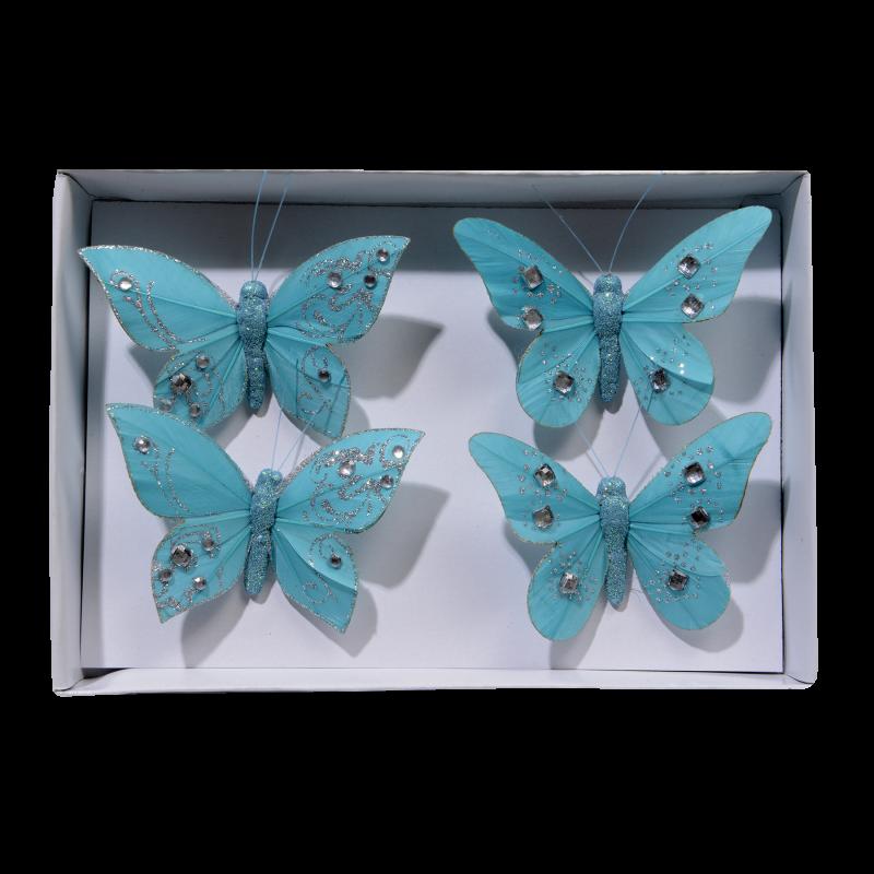 Lot de 4 papillons